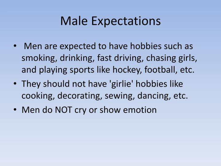 Male Expectations