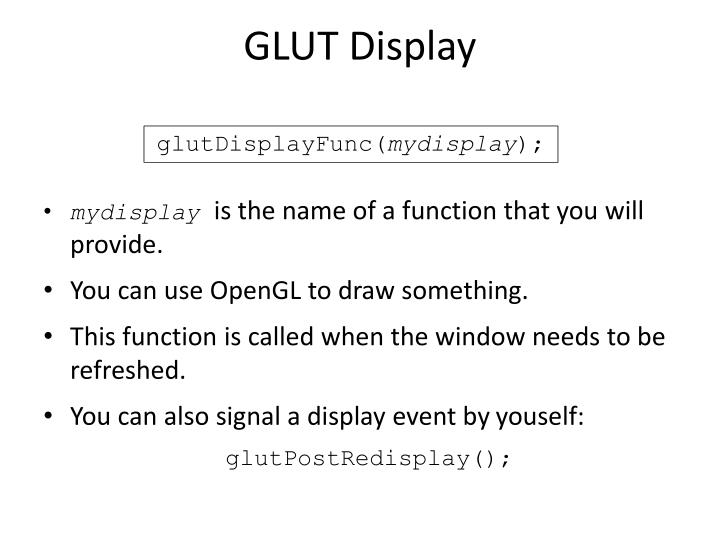 GLUT Display