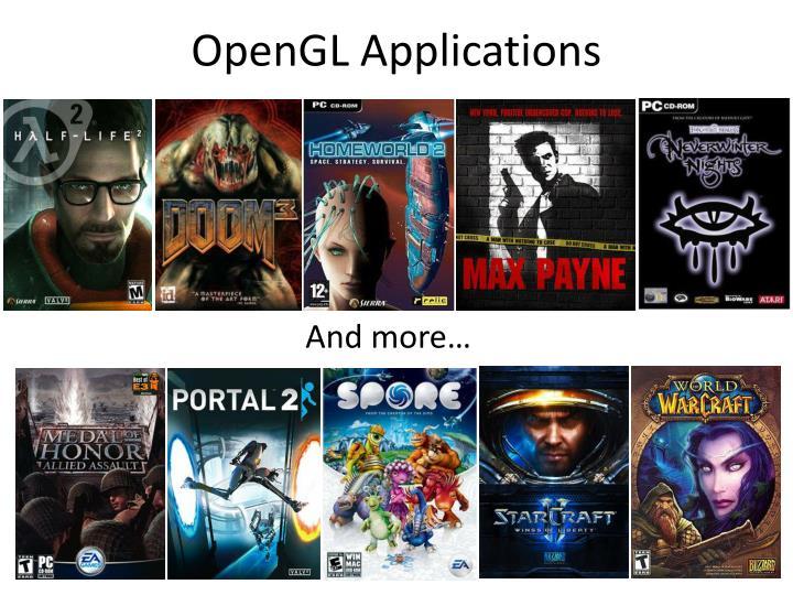 OpenGL Applications