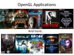 opengl applications