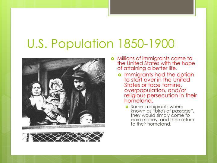 U.S. Population 1850-1900