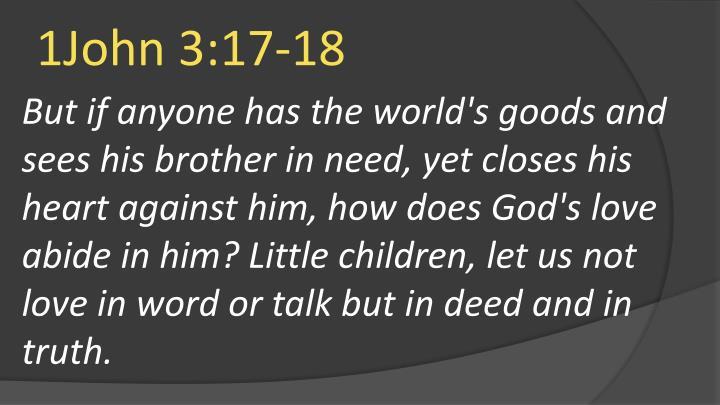 1John 3:17-18