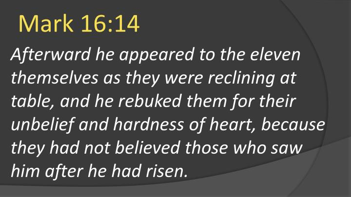 Mark 16:14