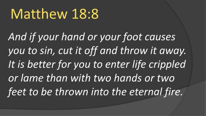 Matthew 18:8