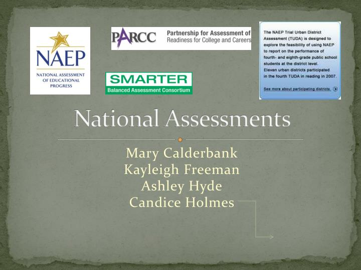 National assessments
