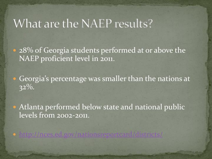 What are the NAEP results?