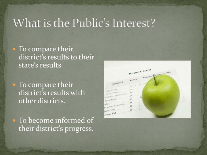 What is the Public's Interest?