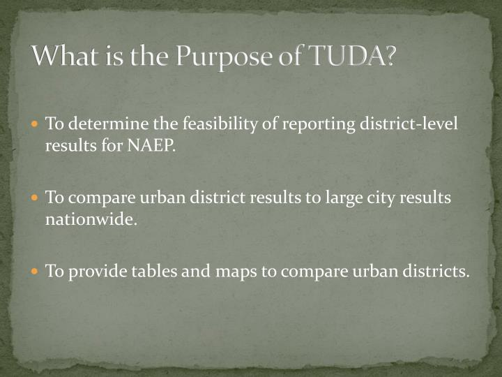What is the Purpose of TUDA?