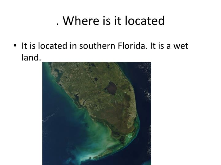 . Where is it located