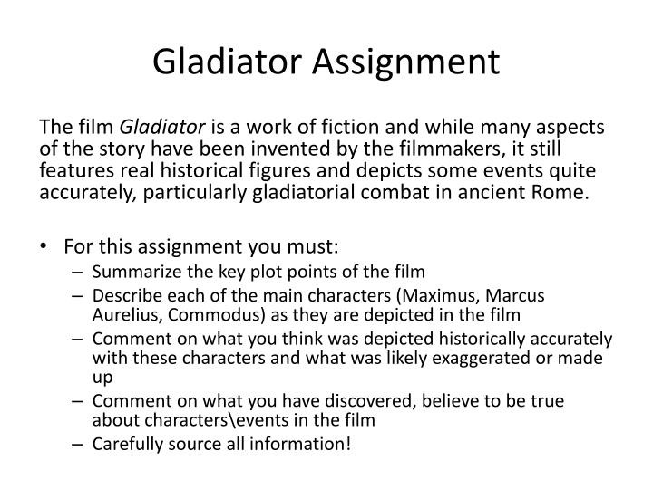 Gladiator Assignment