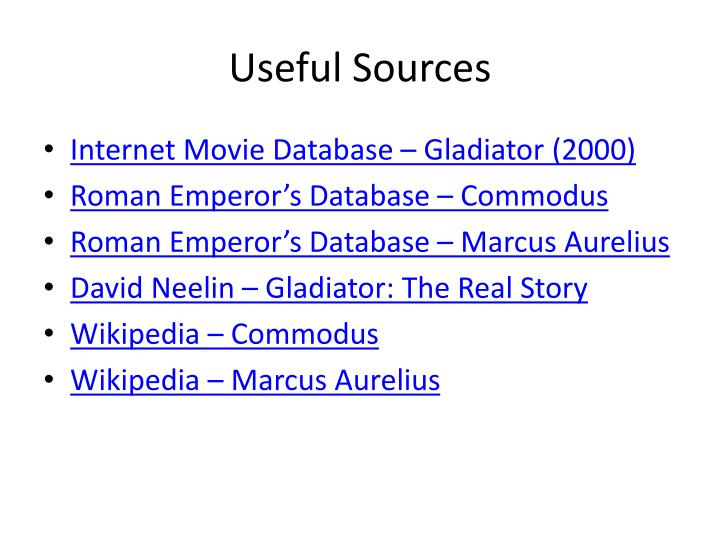 Useful sources
