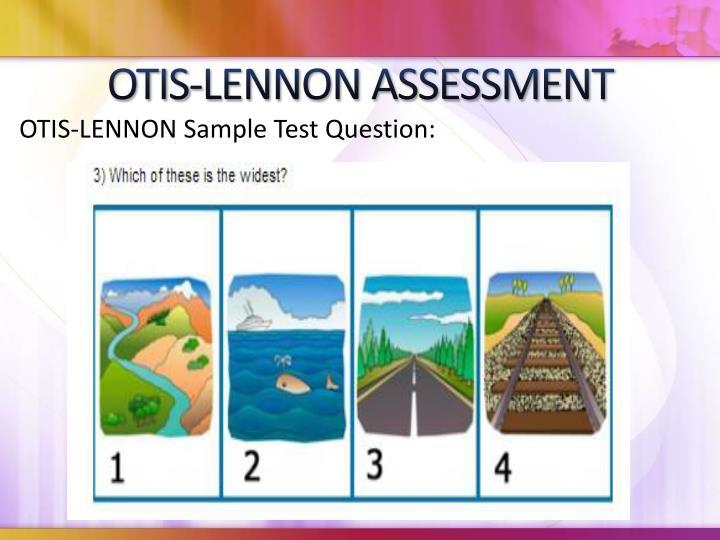 OTIS-LENNON ASSESSMENT