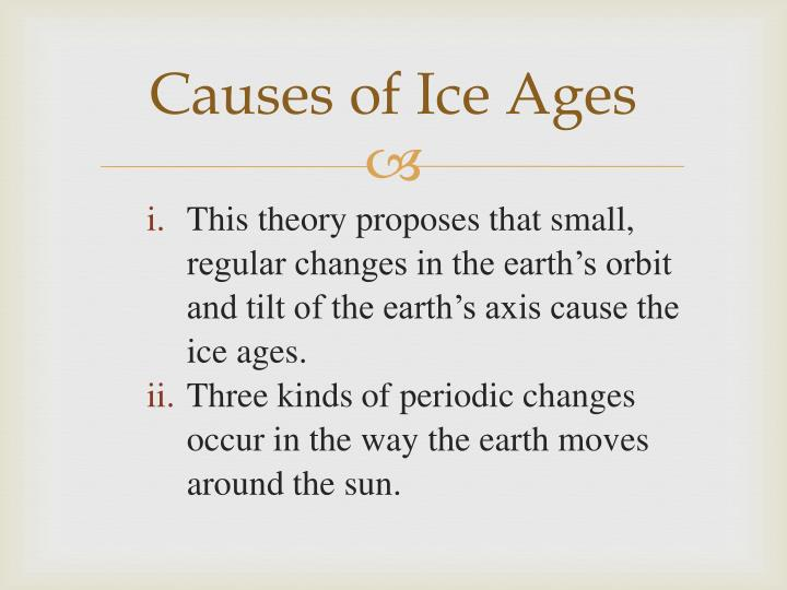 Causes of Ice Ages