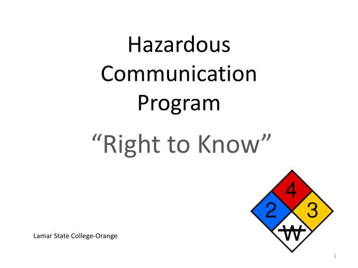 hazardous communication program