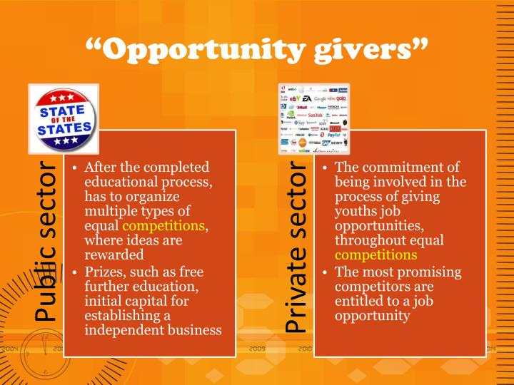 """Opportunity givers"""