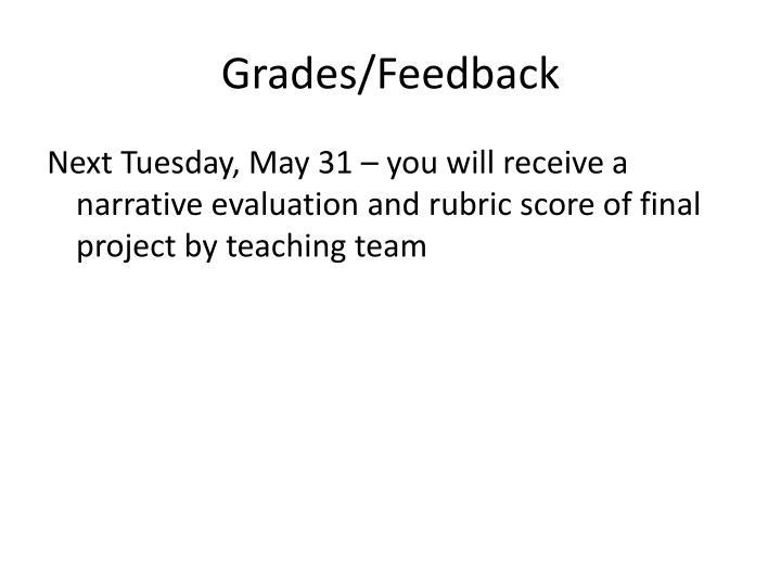 Grades/Feedback