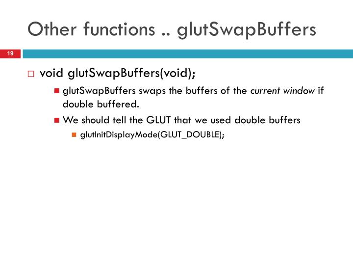 Other functions ..