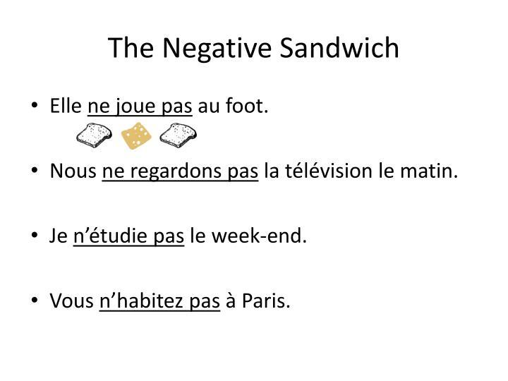 The Negative Sandwich