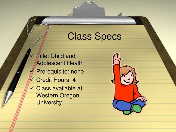 Class Specs