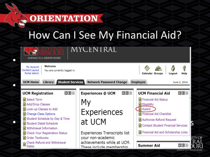 How Can I See My Financial Aid?