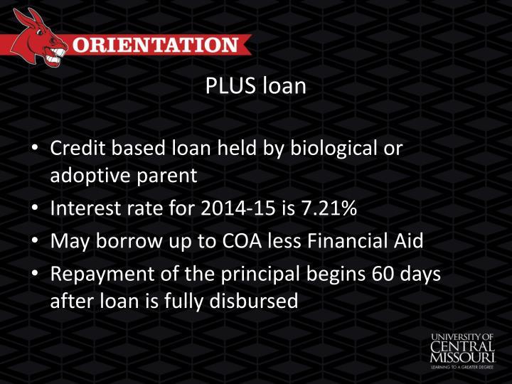 PLUS loan