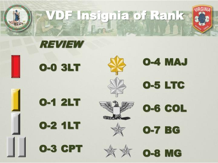 VDF Insignia of Rank