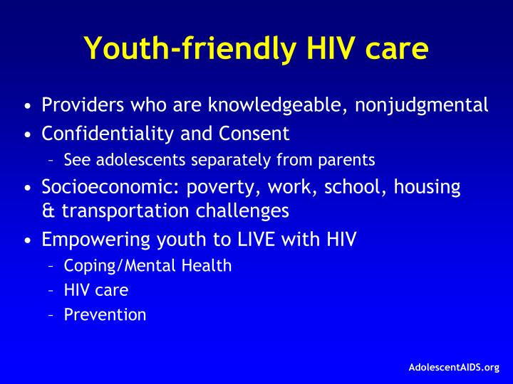 Youth-friendly HIV care