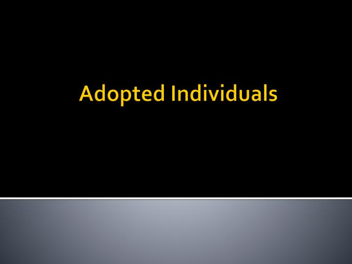 adopted individuals