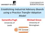 establishing industrial advisory boards using a practice transfer adoption model
