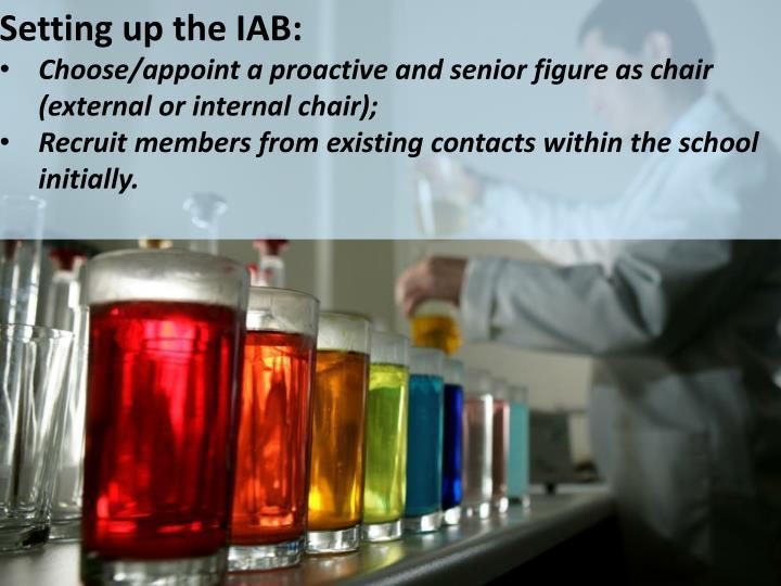 Setting up the IAB:
