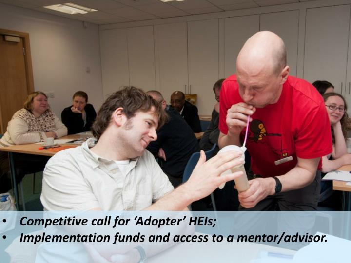 Competitive call for 'Adopter'