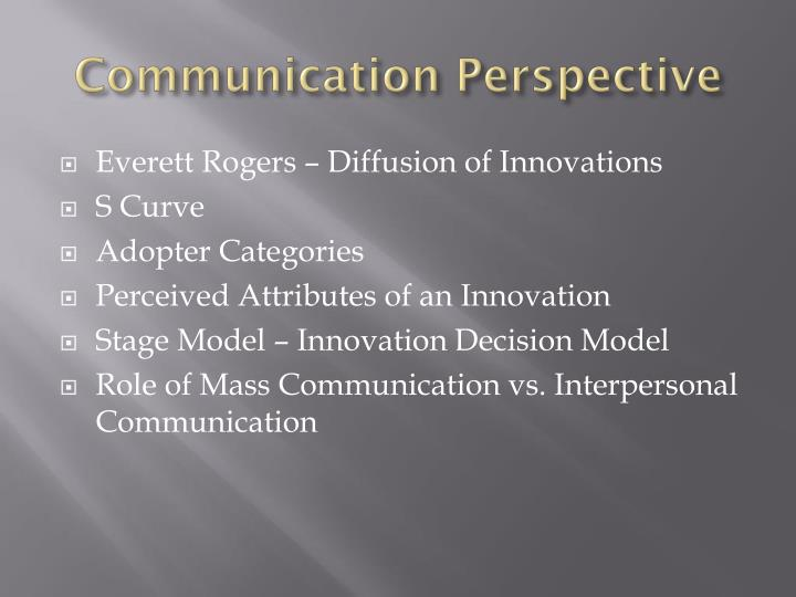Communication Perspective