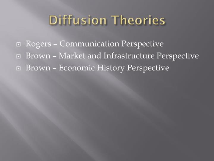 Diffusion Theories