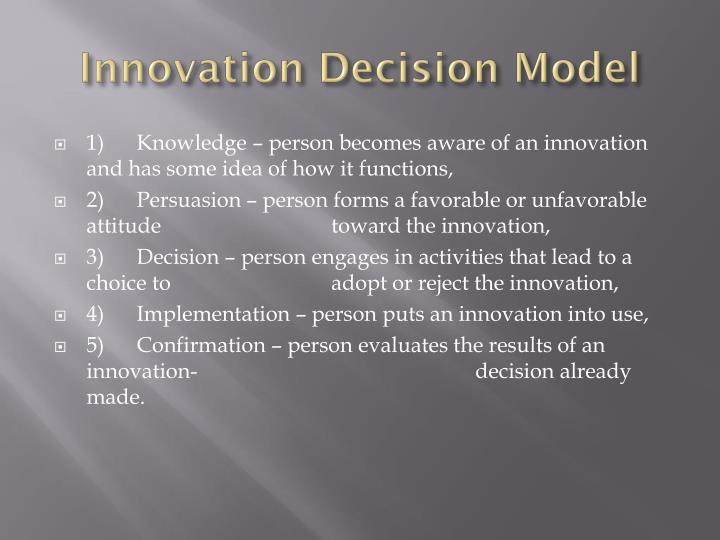 Innovation Decision Model