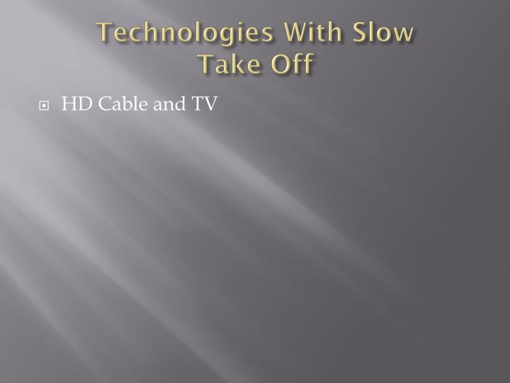 Technologies With Slow