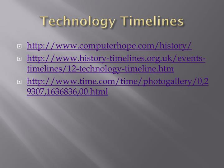 technology timelines