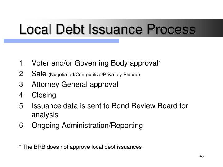Local Debt Issuance Process