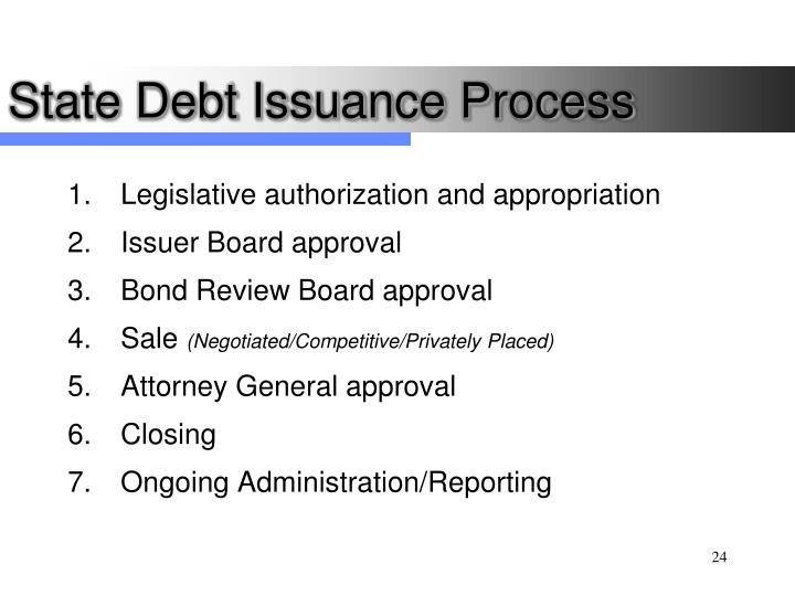 State Debt Issuance Process