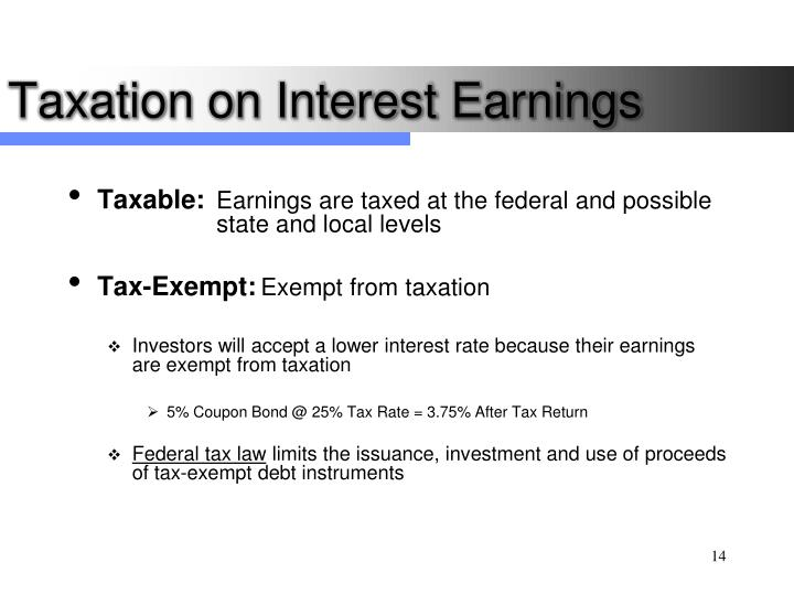 Taxation on Interest Earnings