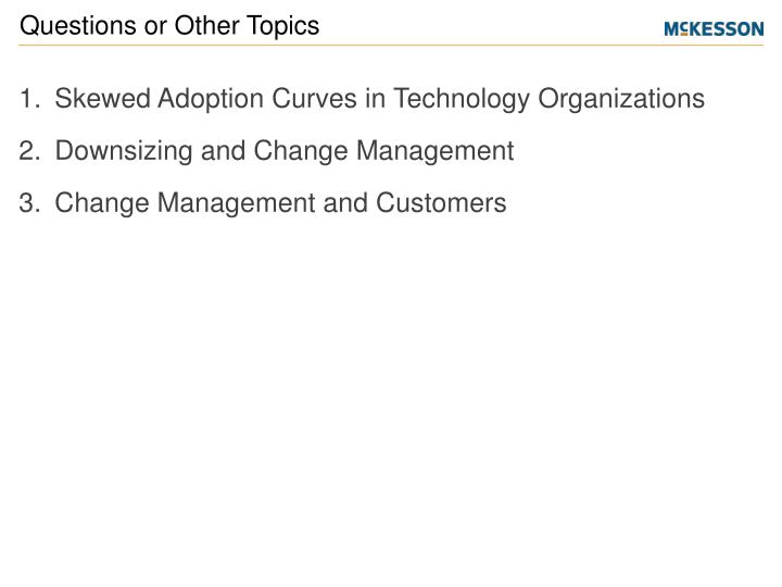 Skewed Adoption Curves in Technology Organizations