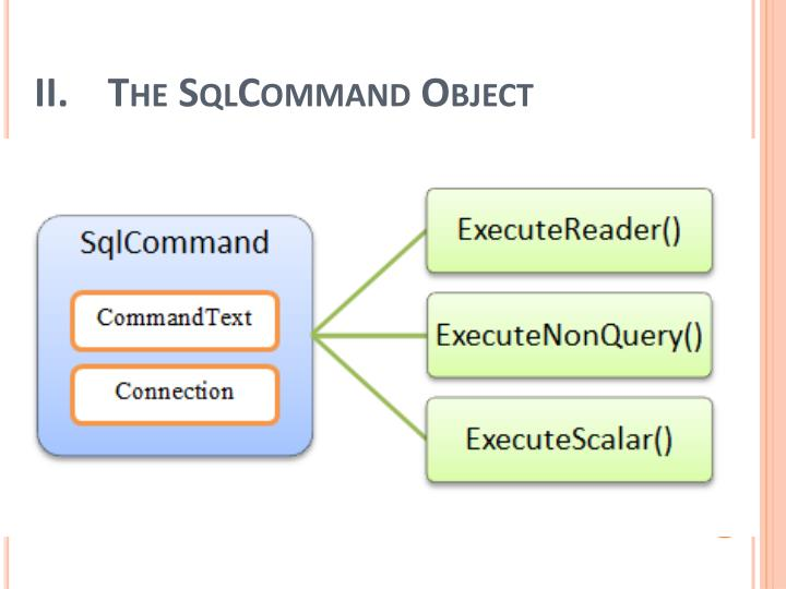 The SqlCommand Object