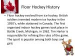 floor hockey history
