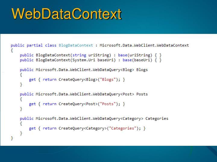 WebDataContext