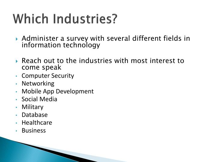 Which industries