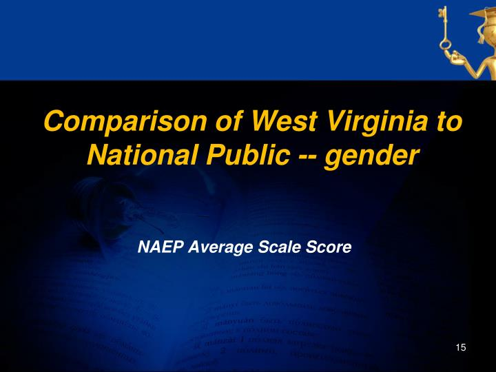 Comparison of West Virginia to National Public -- gender