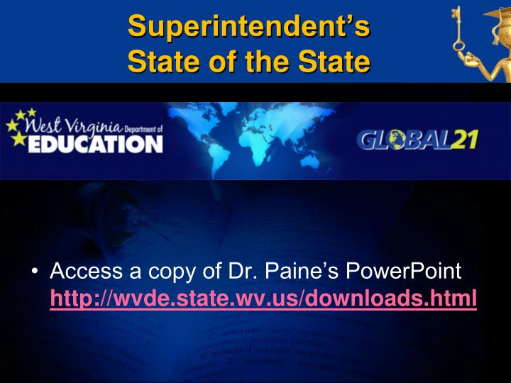 Superintendent s state of the state