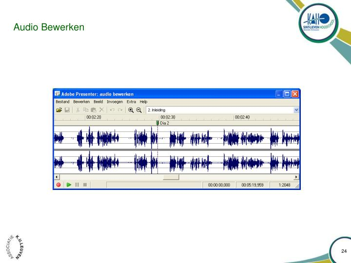 Audio Bewerken