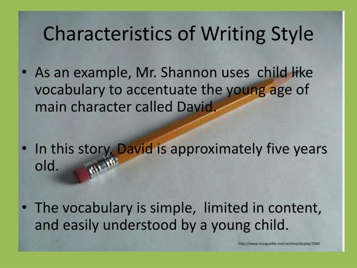 Characteristics of Writing Style