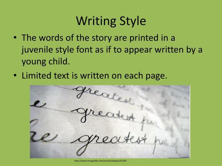Writing Style