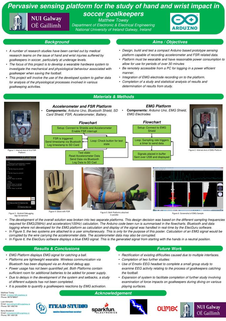 Pervasive sensing platform for the study of hand and wrist impact in soccer goalkeepers